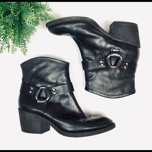 Lucky Brand Cowgirl Booties (8) Ankle Boot Black